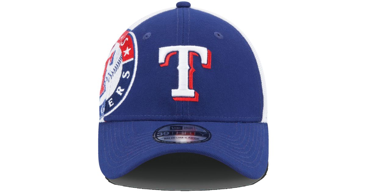 reputable site 8884c 39838 new style lyst ktz texas rangers double mesh 39thirty cap in blue for men  ba32b 3f2ce