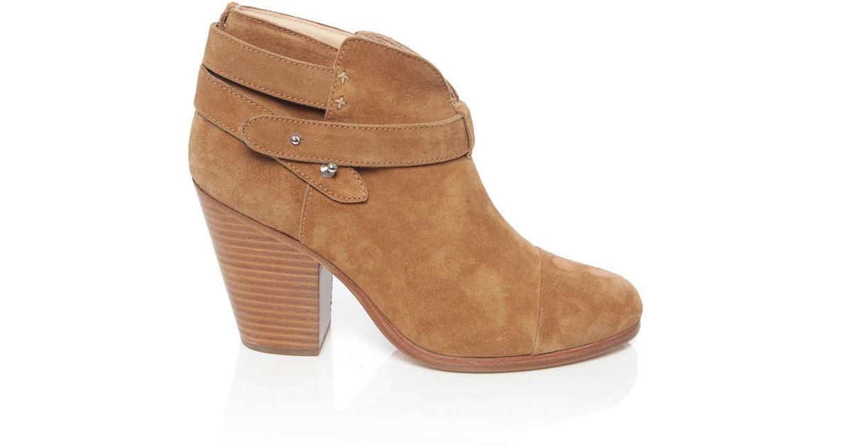 rag bone harrow suede ankle boots in brown brown
