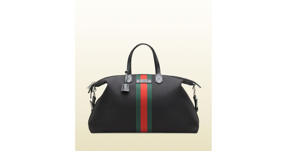 4b97d1a48 Gucci Techno Canvas Duffle Carry-on Bag in Black for Men - Lyst