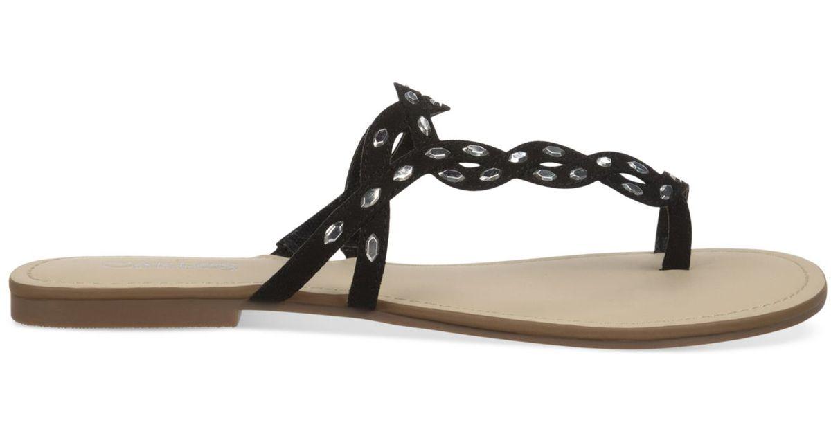 Carlos By Carlos Santana Selena Flat Toe Ring Sandals In