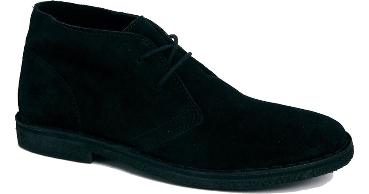 asos desert boots in suede in black for lyst