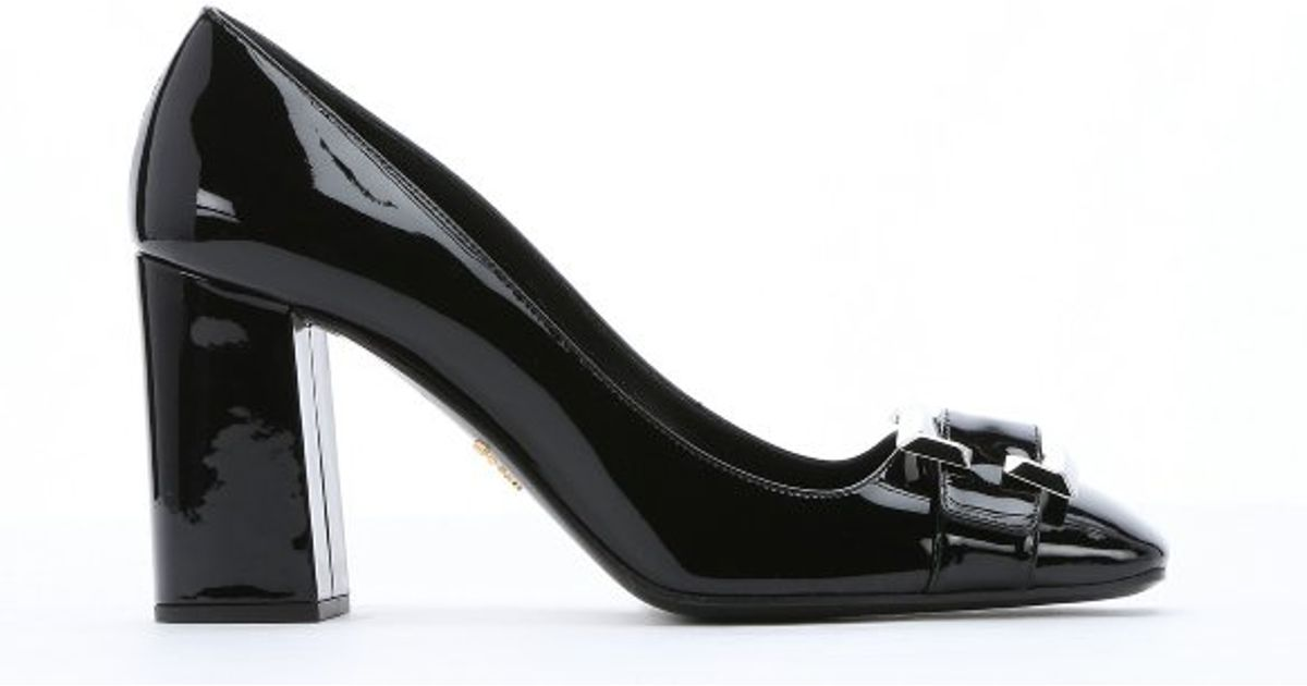 Prada Buckle Detail Leather Pump discount sale free shipping enjoy outlet wholesale price sale pre order 6kCm2