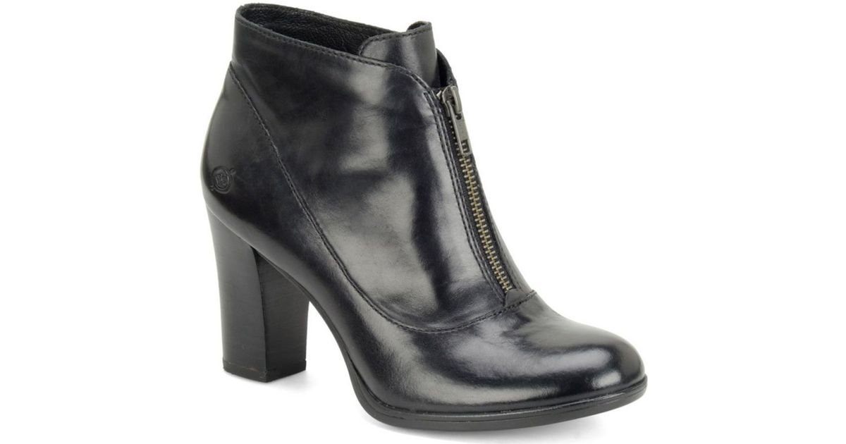 born kenley leather boots in black lyst