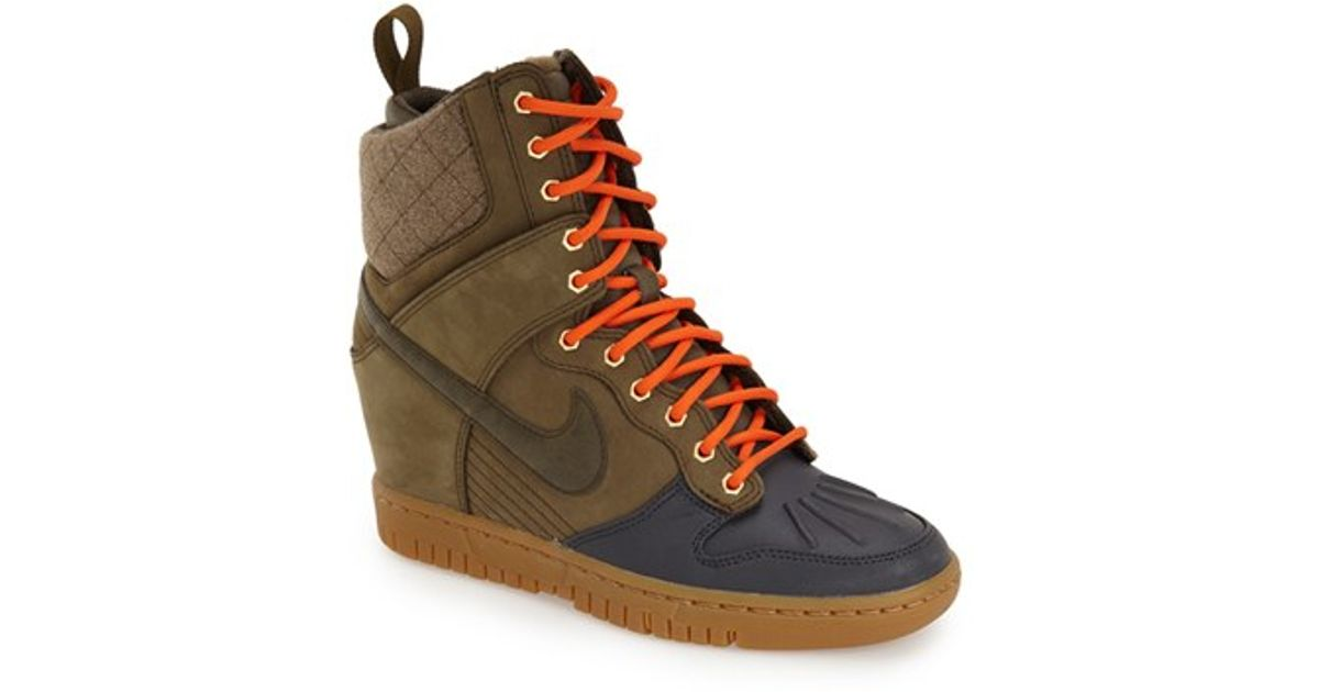 Lyst - Nike  dunk Sky Hi  Wedge Sneaker in Green d34dd7399c