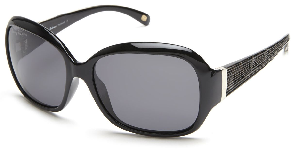 c6958ee49d7 Lyst - Tommy Bahama Tb7032 Black Square Polarized Sunglasses in Black