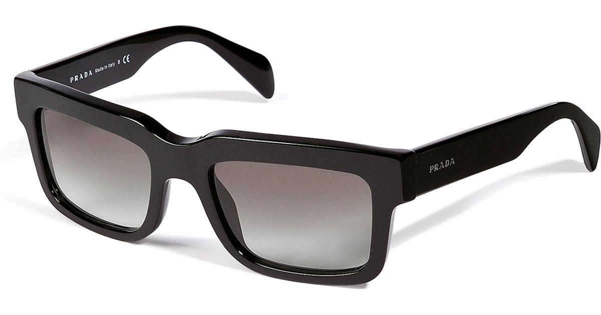 Prada Square Frame Gradient Sunglasses in Black for Men - Lyst
