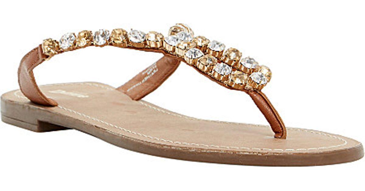 e8cedd5e532aee Dune Naomie Diamante-Embellished Sandals - For Women in Metallic - Lyst