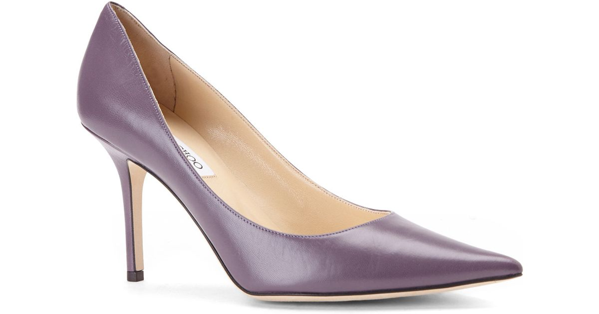 0406a138dab5 ... ireland lyst jimmy choo dark mauve agnes pumps in purple 40998 c3c77