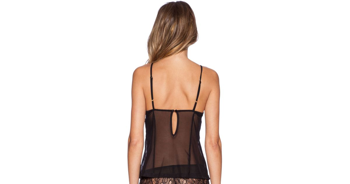 e0a611706ebf8 Lyst - Gooseberry Intimates Paris Caraco Top in Black