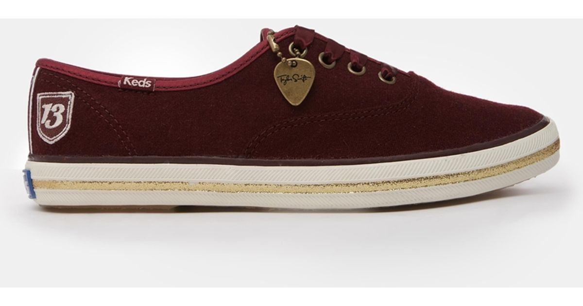 2b3a1c89818 Lyst - Keds Champion Taylor Swift Burgundy Sneakers in Purple