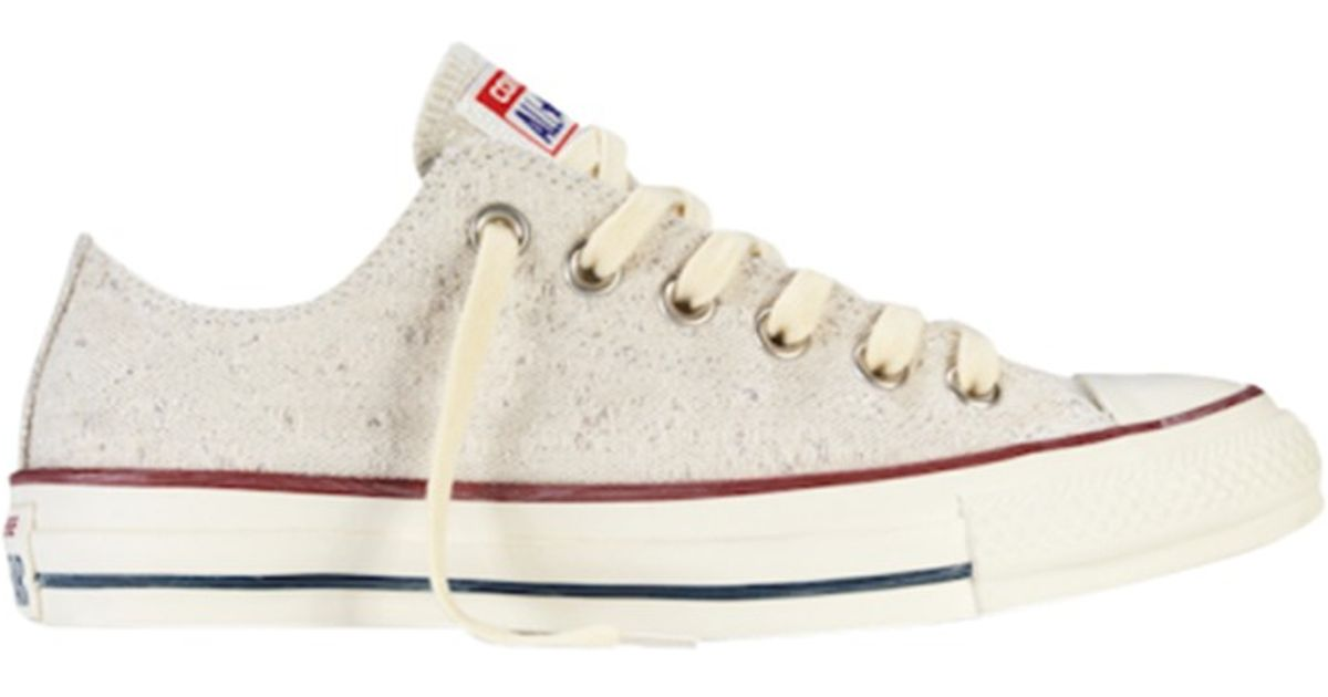 fb5c968f17d25b Converse Chuck Taylor All Star Ox Sparkly Lurex Trainers in Natural - Lyst