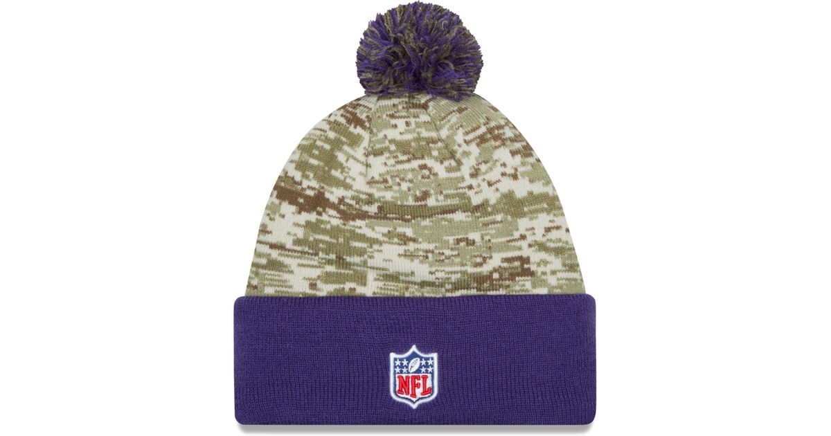 Lyst - KTZ Minnesota Vikings Salute To Service Knit Hat in Green for Men 461b09894