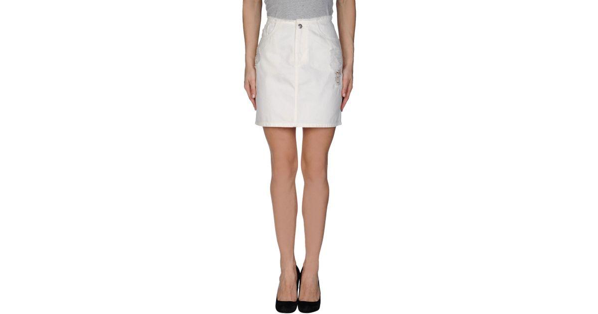 cheap monday denim skirt in white lyst