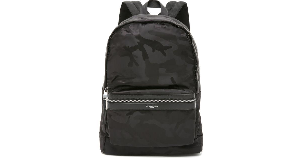 0d3854287d54 Lyst - Michael Kors Kent Camo Nylon Backpack in Black for Men