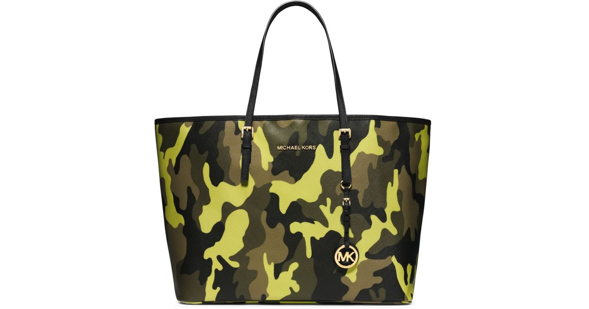 4eccd90c4fc1 Michael Kors Md Travel Tote in Yellow - Lyst