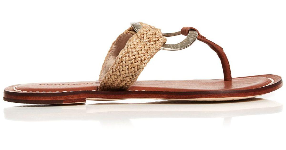 9ee6a6fa54c Lyst - Bernardo Flat Thong Sandals - Matrix Metal in Natural