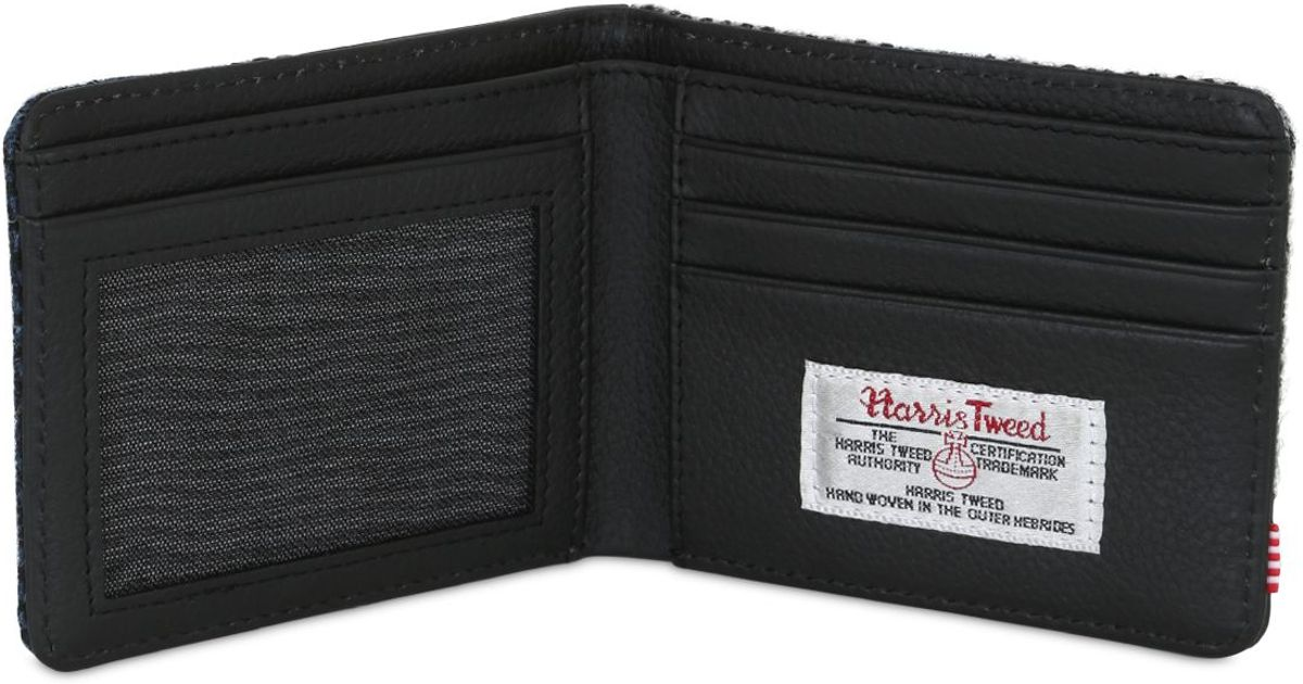ba6f15f77392 Herschel Supply Co. Hank Harris Tweed Wool & Leather Wallet in Blue ...