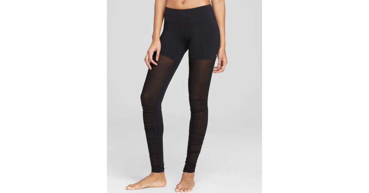 648b0e31a3 Alo Yoga Mesh Goddess Leggings in Black - Lyst