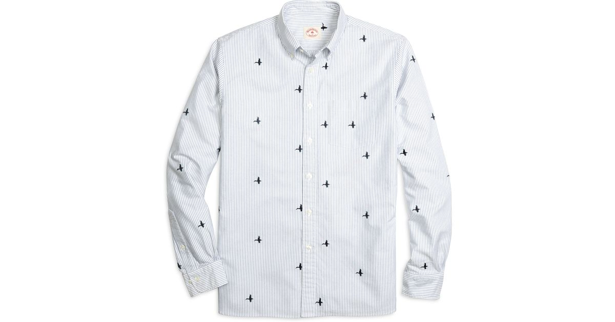 Brand New BROOK BROTHERS EMBROIDERY Shirt Dress!!