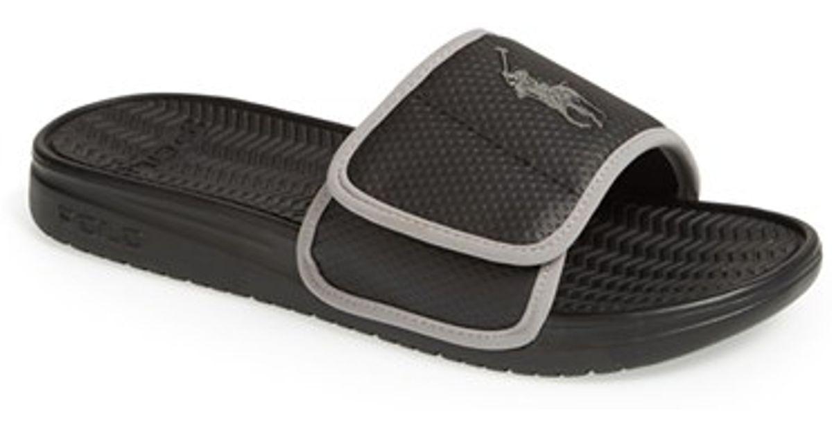 036e69db371 Lyst - Polo Ralph Lauren  romsey  Slide Sandal in Black for Men