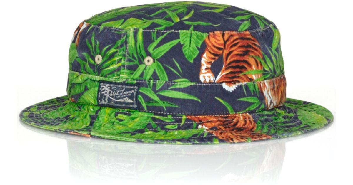 Lyst Ralph Lauren Polo Tigerprint Bucket Hat In Blue For Men. Tigers Print Gg  Supreme ... 8dc0216112f8