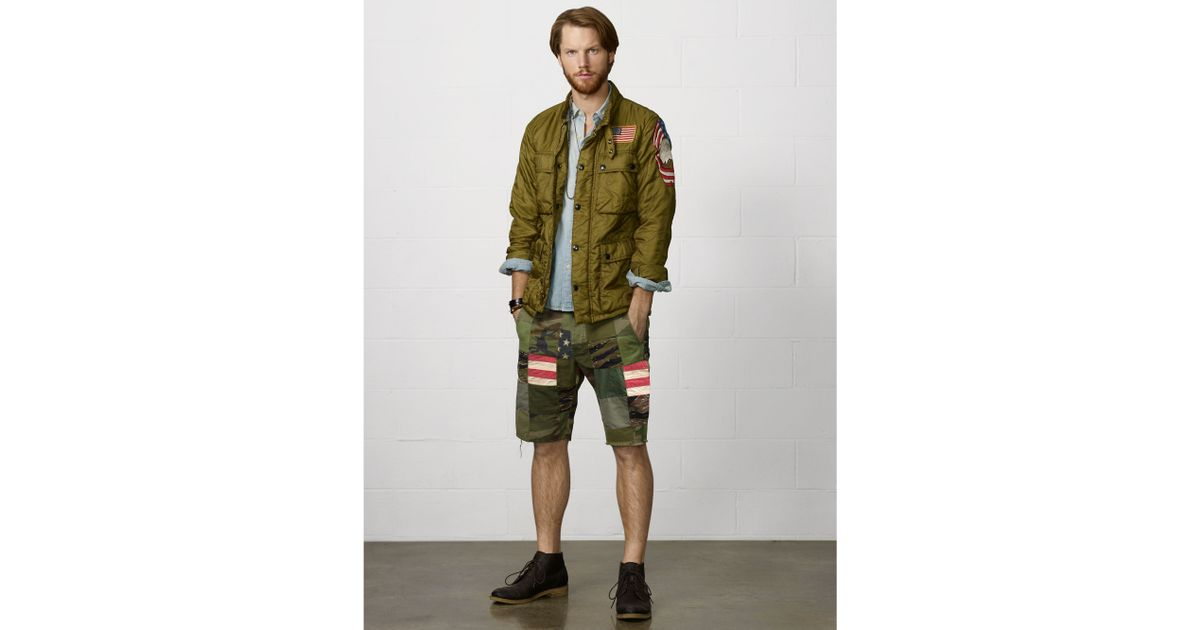 767dd2d2a Denim   Supply Ralph Lauren Patchwork Chino Short in Green for Men - Lyst