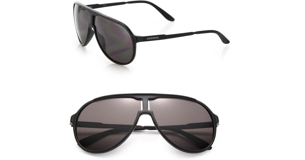667ca970377c Carrera New Champion 62mm Aviator Sunglasses in Black - Lyst