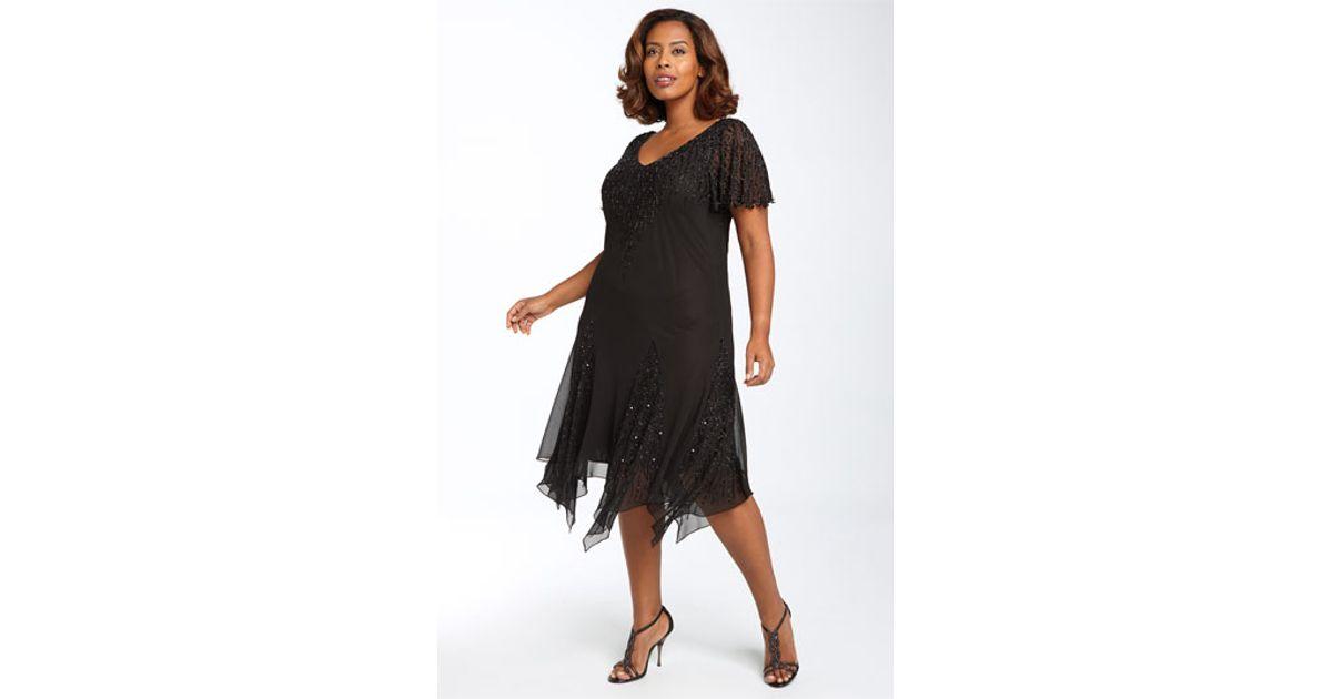 J Kara Beaded Chiffon Gown Fashion Dresses