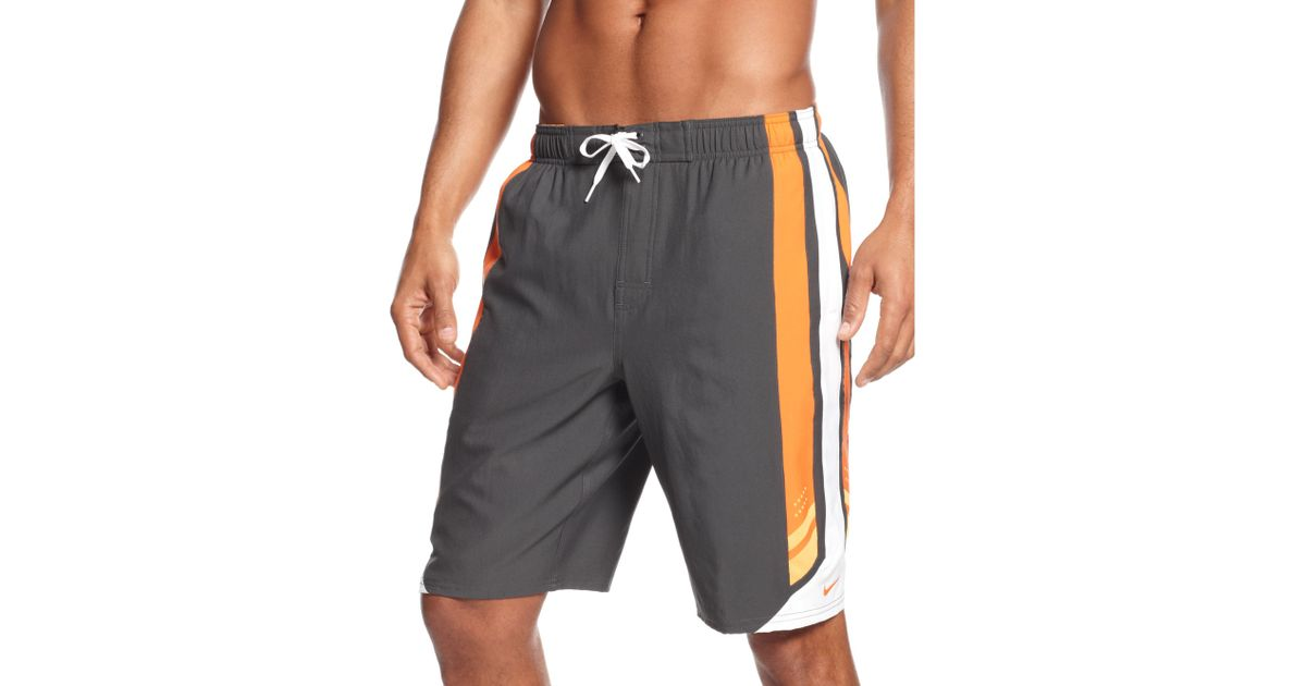 68c6797510 Nike Transcend 11 Volley Drifit Swim Shorts in Gray for Men - Lyst
