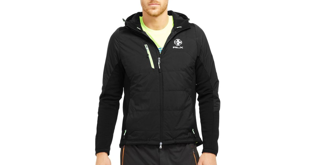 d66991616 Pink Pony Polo Sport Stretch Hybrid Jacket in Black for Men - Lyst