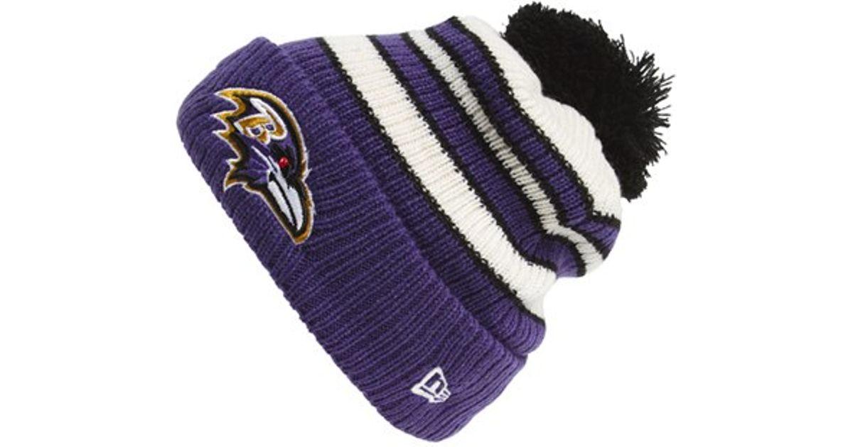 Lyst - KTZ  traditional Stripe - Baltimore Ravens  Pompom Knit Hat - Purple  in Purple for Men 53cc1b050