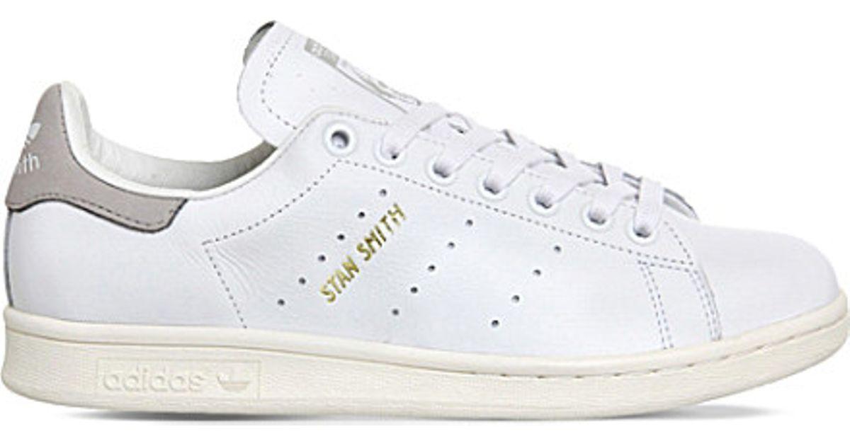 Womens Adidas Stan Smith Grey Polka Dot Trainers