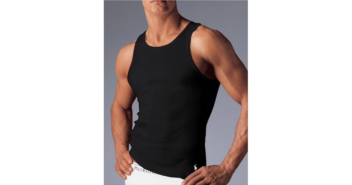 253054ca3d612 Lyst - Polo Ralph Lauren 3-Pack Classic Cotton Tanks in Black for Men