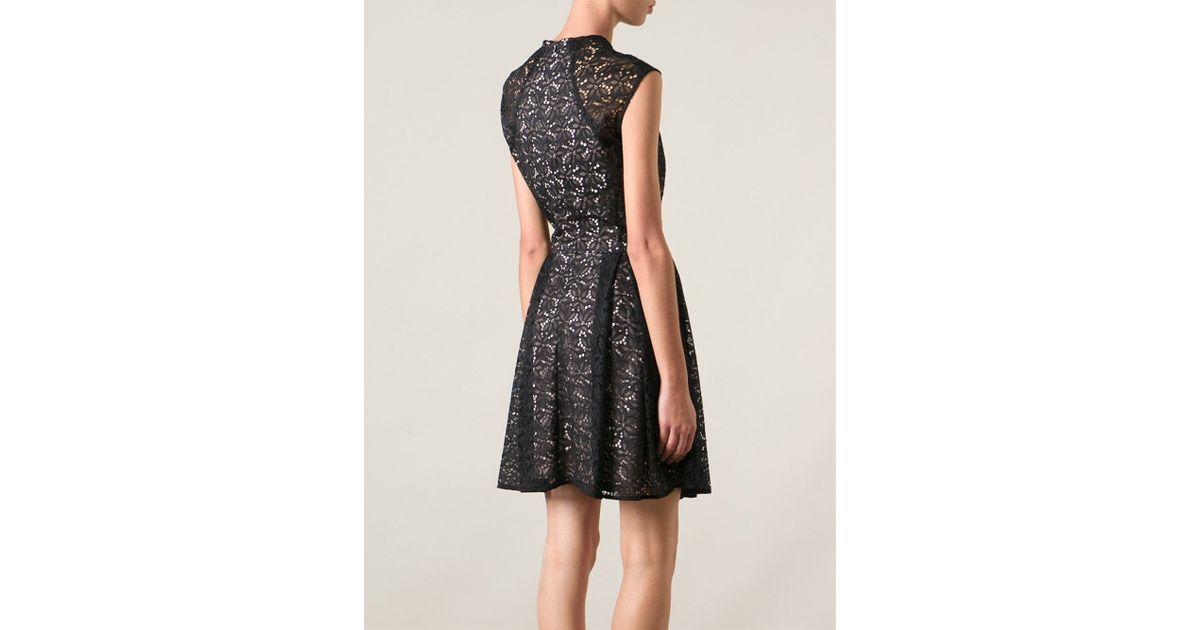 Pinko black lace dress