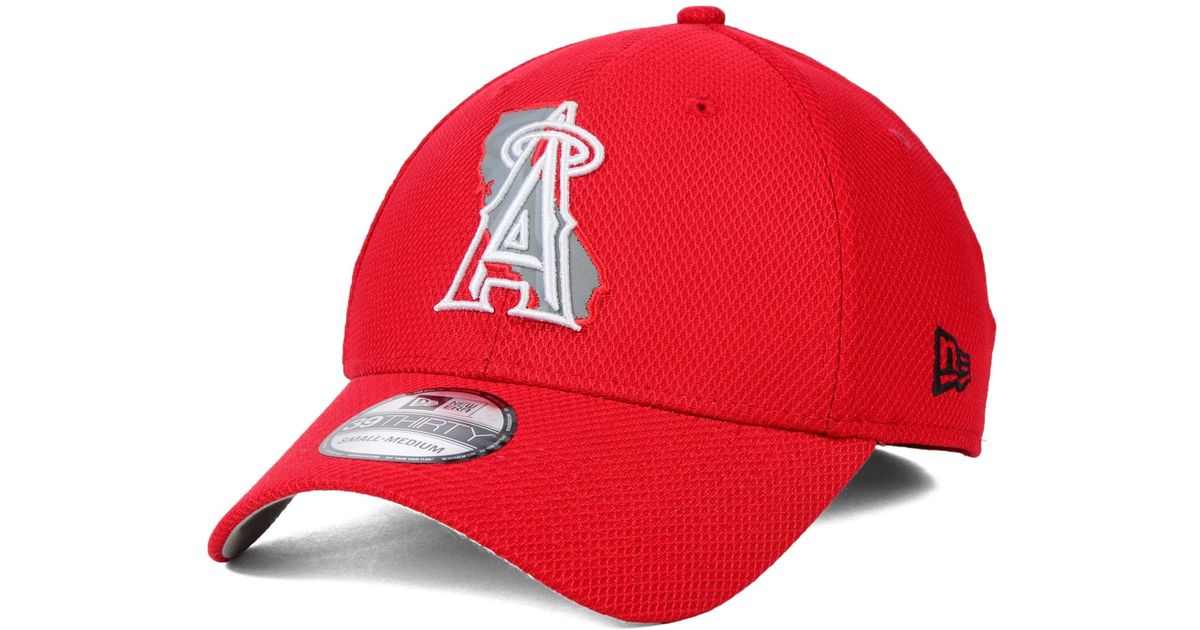 9e91d988 ... cheapest lyst ktz los angeles angels of anaheim state flective 39thirty  cap in red for men