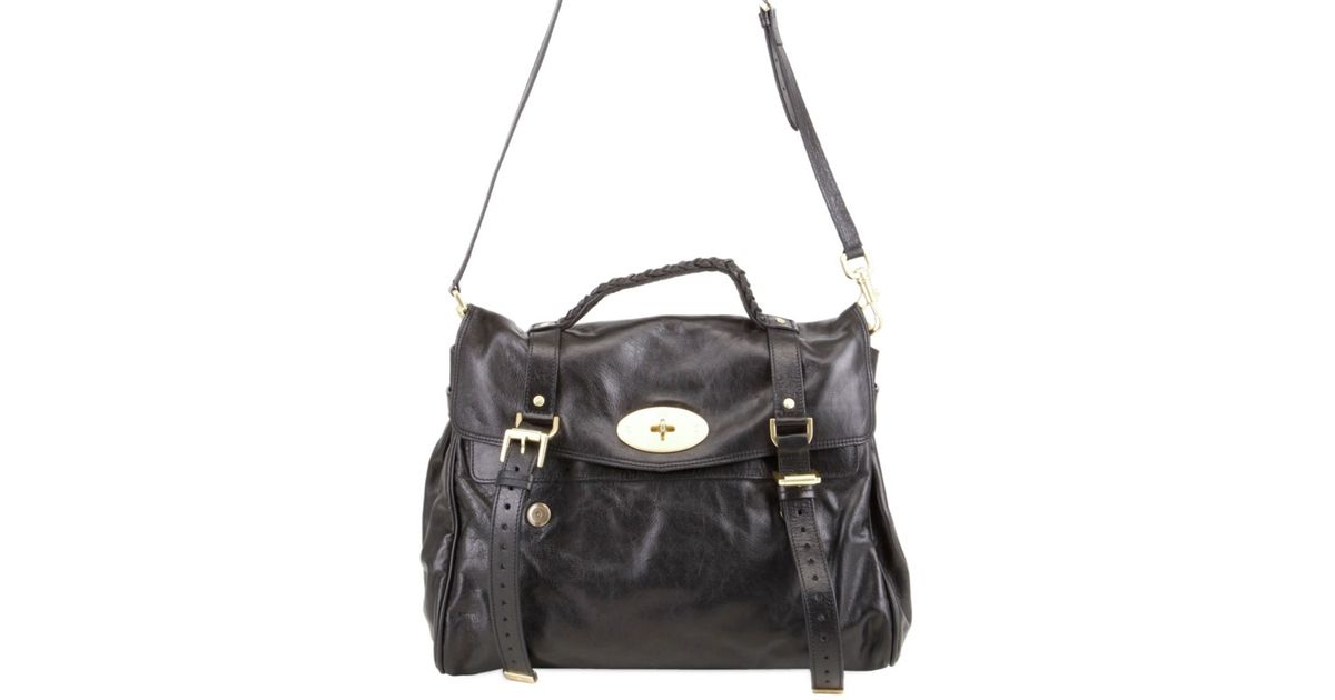 5bdb7c4557 Lyst - Mulberry Oversized Alexa Leather Bag in Black