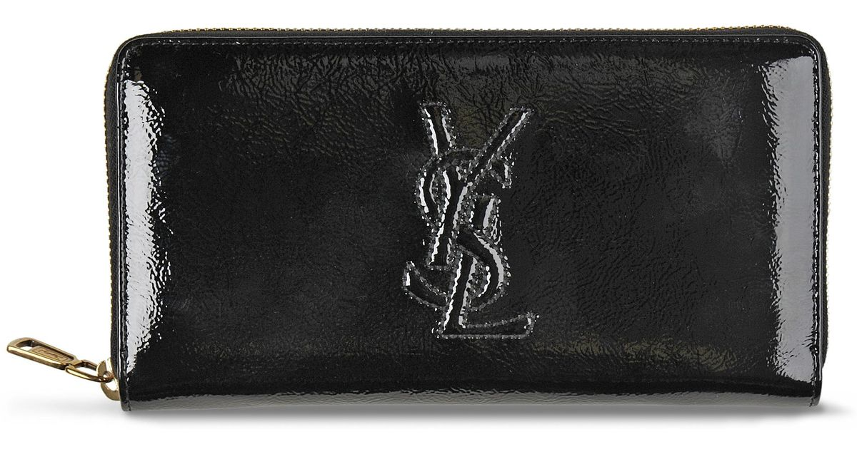 yves monogram saint laurent zip around wallet