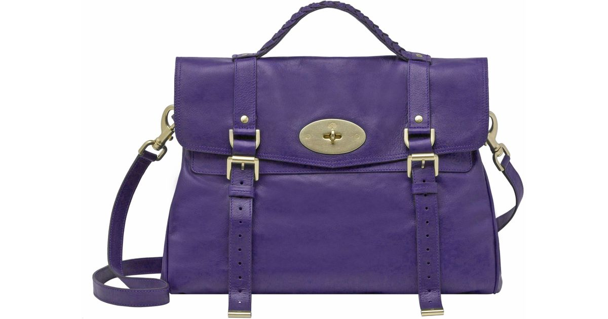 86f1608bcbec ... bag in brown for men 2eedd ffa4f promo code for mulberry alexa  oversized satchel in purple lyst 62634 5ba92 ...