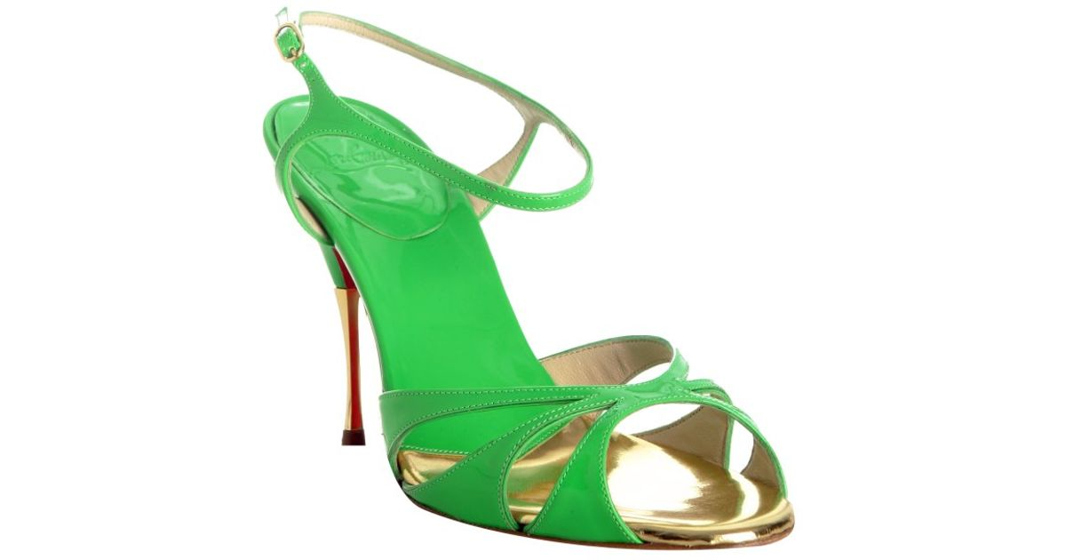 Artesur ? christian louboutin green patent leather accents sandals