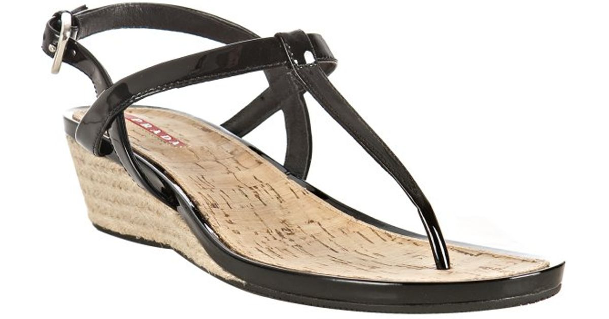 Prada Sport Leather T-Strap Sandals cheap sale under $60 cheap with mastercard sale extremely jwRanqOVZt