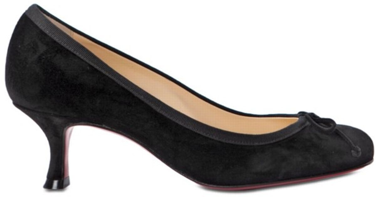 Christian louboutin Marcia Balla 45 Suede Pumps in Black | Lyst