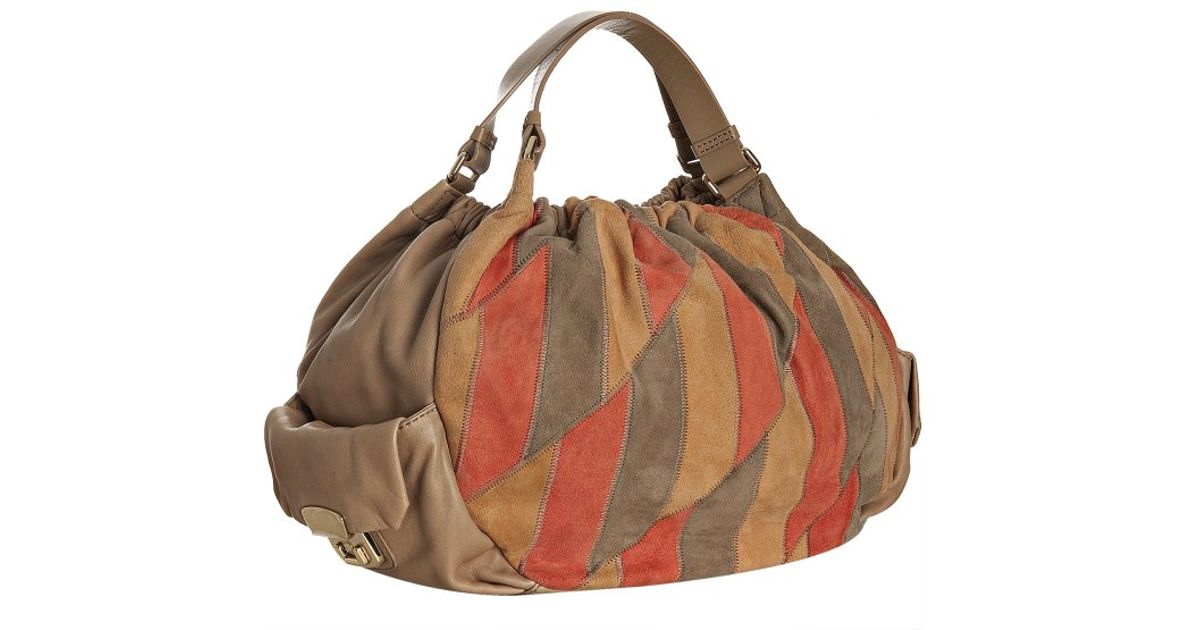 37ea983a32f0 Lyst - Marc By Marc Jacobs Brown Suede Patch Pocket Hobo in Brown