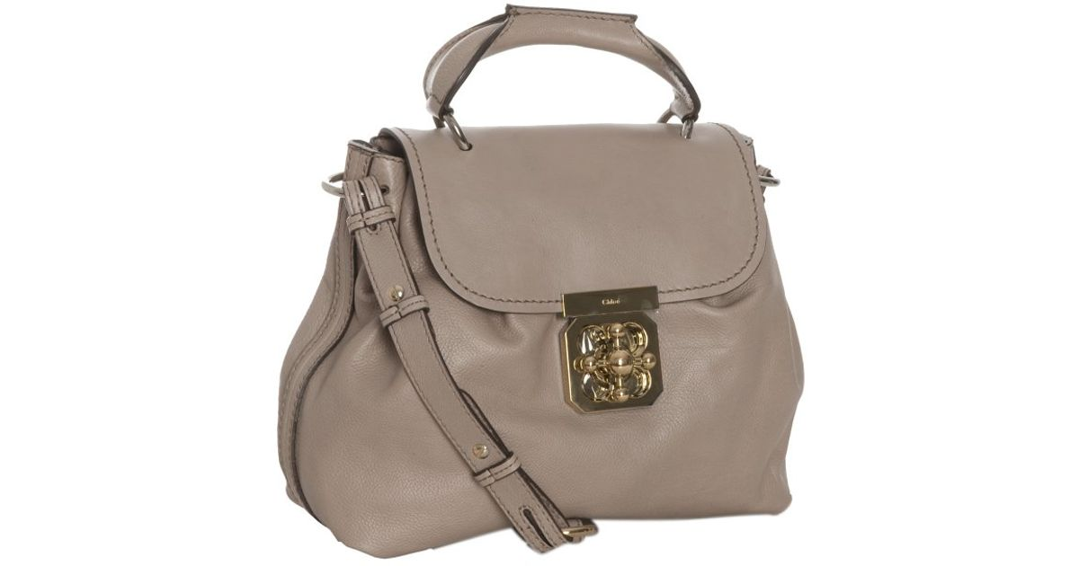 Chlo¨¦ Taupe Calfskin Elsie Shoulder Bag in Gray (taupe) | Lyst
