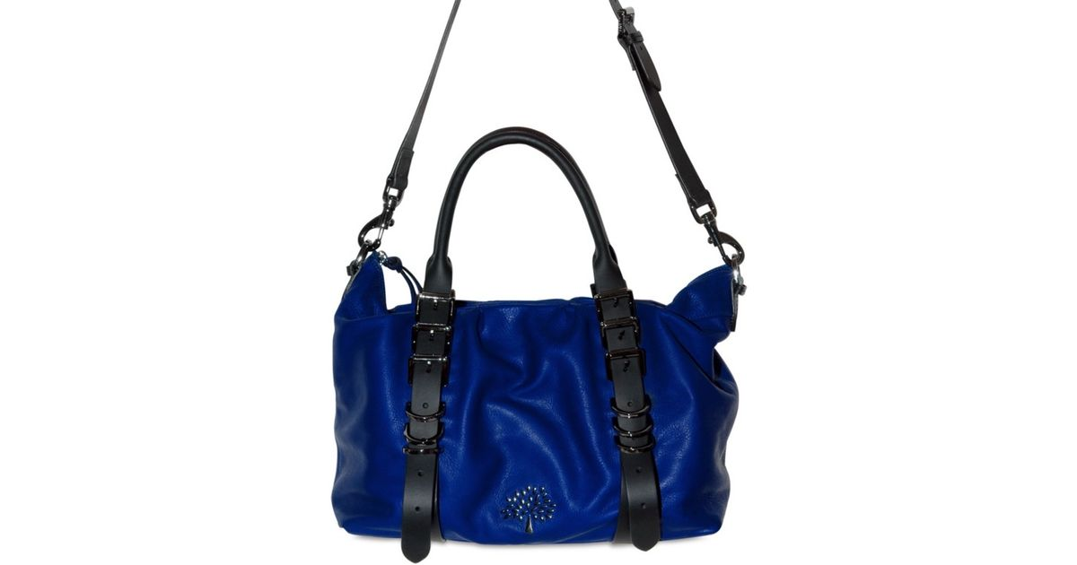 9fee7290a4 ... official store lyst mulberry mila clipper bag in blue 1762d 08d89