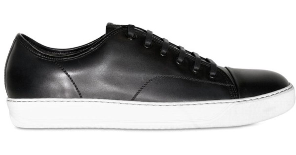 4c40aa85769 Lanvin Calfskin Sneakers in Black for Men - Lyst