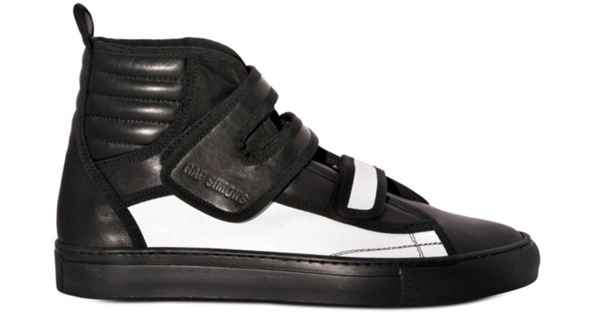 watch 7aa54 2362d Lyst - Raf Simons Velcro Straps Sneakers in Black for Men