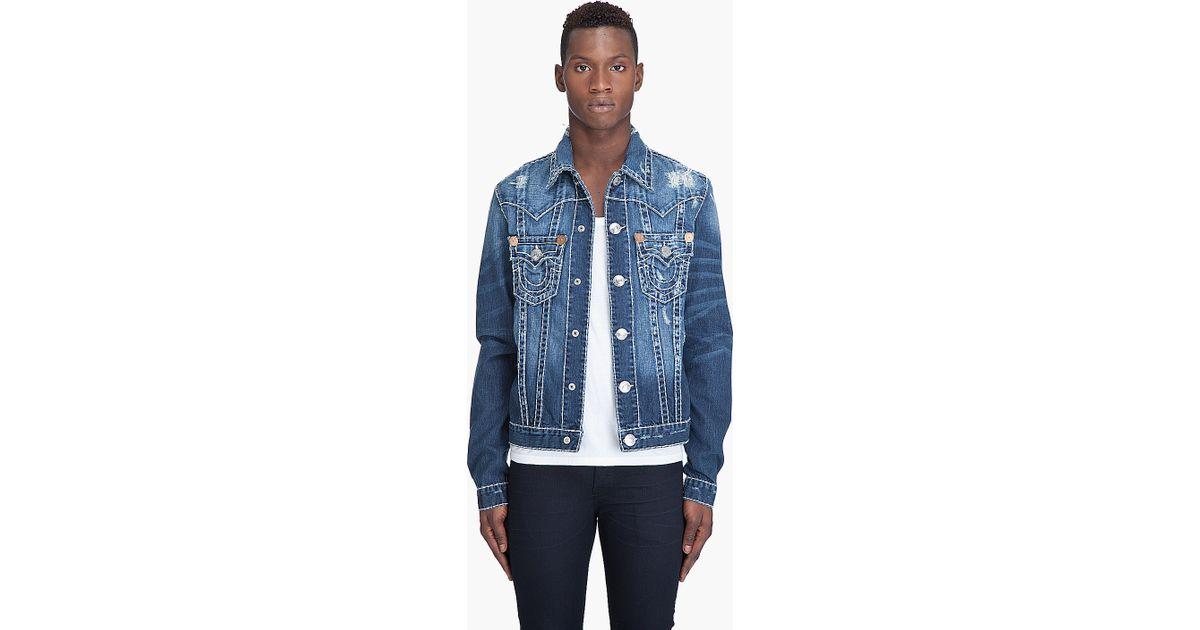 e6ab1f6412d Lyst - True Religion Jimmy Super T Jacket in Blue for Men