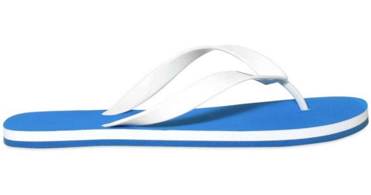e1c05d17a31926 Lyst - Y-3 Y3 Rubber Flip Flop Sandals in Blue for Men