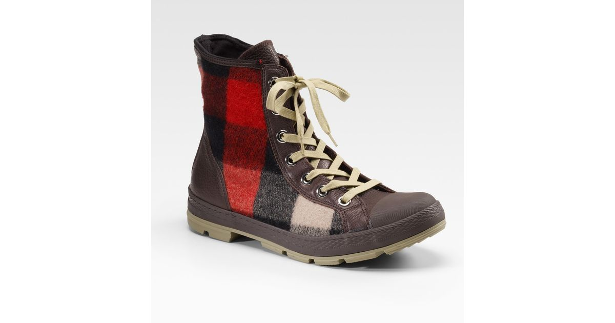 2dc4b18a1146c4 Lyst - Converse Chuck Taylor Woolrich Outsider Boots in Brown for Men