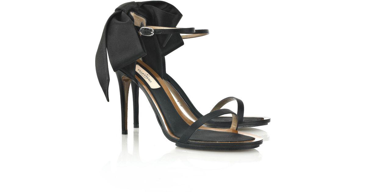 Valentino Satin Bow Sandals manchester great sale online fPJfS4hPD